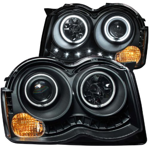 Anzo-USA-111213-Black-Halo-Projector-Headlights-with-Clear-Lens-and-Amber-Reflector-for-Jeep-Grand-Cherokee-Pair-0