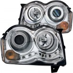 Anzo-USA-111214-Chrome-Halo-Projector-Headlight-with-Clear-Lens-and-Amber-Reflector-for-Jeep-Grand-Cherokee-0