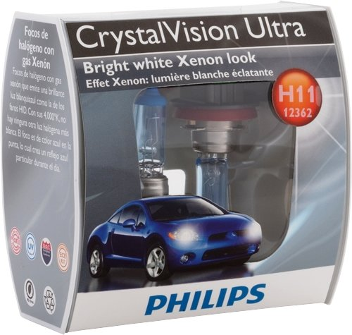 Philips H11 Crystalvision Ultra Headlight Bulb Pack Of 2